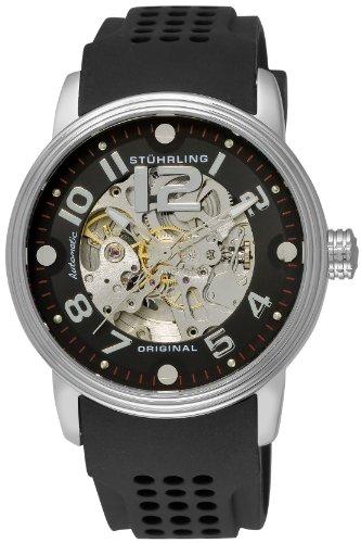 ステューリング オリジナル 腕時計 メンズ 時計 Stuhrling Original Men's 1070.33161 Classic Delphi Adonis Automatic Skeleton Black Rubber Strap Watch ステューリング オリジナル 腕時計 メンズ 時計 Stuhrling Original Men's 1070.33161 Watch