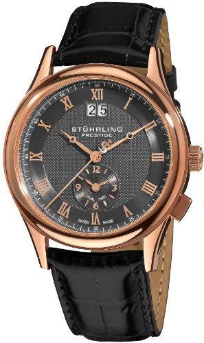 ステューリング プレステージ 腕時計 メンズ 時計 Stuhrling Prestige Men's 364.334554 Prestige Swiss Made Laureate Quartz Dual Time Rose Tone Watch ステューリング プレステージ 腕時計 メンズ 時計 Stuhrling Prestige Men's 364.334554 Watch