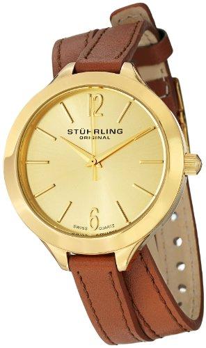 ステューリング オリジナル 腕時計 レディース 時計 Stuhrling Original Women's 568.04 Deauville Sport Swiss Quartz Brown Leather Wrap Around Band Gold Tone Watch ステューリング オリジナル 腕時計 レディース 時計 Stuhrling Original Women's 568.04 Watch