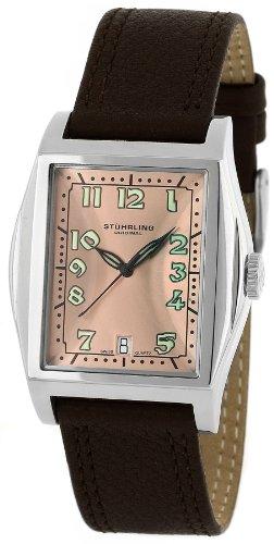 ステューリング オリジナル 腕時計 Stuhrling Original Midsize 121A.3215E55 Classic Ascot Basilica II Swiss Quartz Date Brown Leather Watch ステューリング オリジナル 腕時計 Stuhrling Original Midsize 121A.3215E55 Classic Ascot Basilica II Swiss Quartz Date Brown Leather Watch
