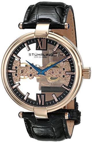 ステューリング オリジナル 腕時計 メンズ 時計 Stuhrling Original Men's 330.33451 Special Reserve Emperor Royal Scepter Mechanical Skeleton Rose Tone Watch ステューリング オリジナル 腕時計 メンズ 時計 Stuhrling Original Men's 330.33451 Watch