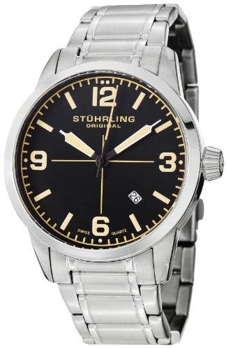ステューリング オリジナル 腕時計 メンズ 時計 Stuhrling Original Men's 449B.331168 Aviator Tuskegee Elite Swiss Quartz Date Stainless Steel Bracelet Watch ステューリング オリジナル 腕時計 メンズ 時計 Stuhrling Original Men's 449B.331168 Watch