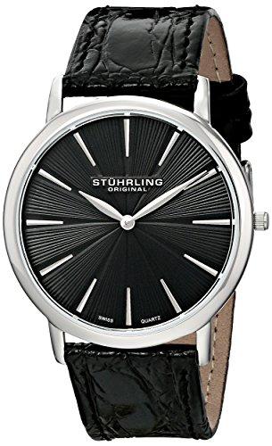 ステューリング オリジナル 腕時計 メンズ 時計 Stuhrling Original Men's 682.02 Orchestra Swiss Quartz Ultra Slim Black Watch ステューリング オリジナル 腕時計 メンズ 時計 Stuhrling Original Men's 682.02 Orchestra Swiss Quartz Ultra Slim Black Watch