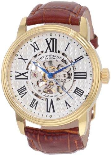 """ステューリング オリジナル 腕時計 メンズ 時計 Stuhrling Original Men's 1077.3335K2 """"Classic Delphi Venezia"""" Stainless Steel Automatic Watch with Leather Band ステューリング オリジナル 腕時計 メンズ 時計 Stuhrling Original Men's 1077.3335K2 """"Classic Delphi Venezia"""" Watch"""
