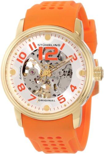 ステューリング オリジナル 腕時計 メンズ 時計 Stuhrling Original Men's 1070.3336F23 Classic Delphi Adonis Automatic Skeleton Orange Rubber Strap Watch ステューリング オリジナル 腕時計 メンズ 時計 Stuhrling Original Men's 1070.3336F23 Watch