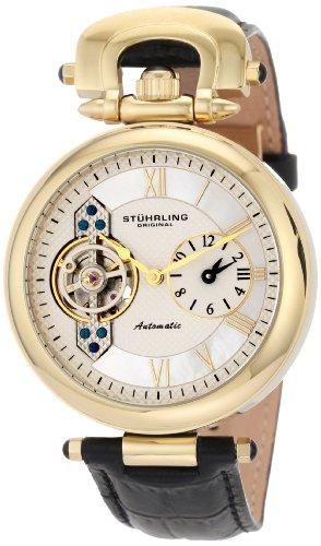 ステューリング オリジナル 腕時計 メンズ 時計 Stuhrling Original Men's 127.33352 Special Reserve Emperor Automatic Skeleton Dual Time Zone Gold Tone Watch ステューリング オリジナル 腕時計 メンズ 時計 Stuhrling Original Men's 127.33352 Watch 魅力的