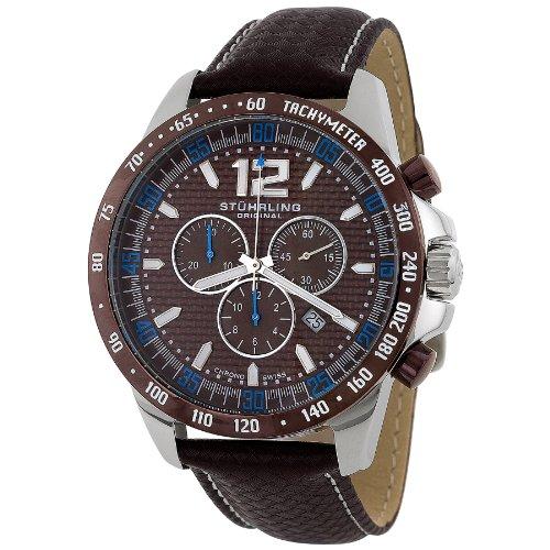 ステューリング オリジナル 腕時計 メンズ 時計 Stuhrling Original Men's 210A.3315K59 Concorso Chronograph Brown Dial Watch ステューリング オリジナル 腕時計 メンズ 時計 Stuhrling Original Men's 210A.3315K59 Concorso Chronograph Brown Dial Watch
