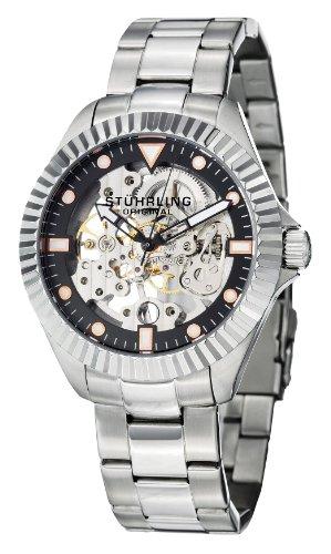 ステューリング オリジナル 腕時計 メンズ 時計 Stuhrling Original Men's 8110.33111 Symphony Regent Diadem Mechanical Skeleton Black Dial Watch ステューリング オリジナル 腕時計 メンズ 時計 Stuhrling Original Men's 8110.33111 Watch