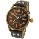 ステューリング オリジナル 腕時計 メンズ 時計 Stuhrling Original Men's 141EA.3365K59 Leisure Eagle Flyer Swiss Quartz Date Brown Watch