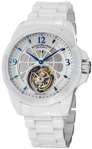 ステューリング オリジナル 腕時計 メンズ 時計 Stuhrling Original Men's 475.33EP3 Tourbillon Specter Limited Edition Mechanical White Ceramic Watch ステューリング オリジナル 腕時計 メンズ 時計 Stuhrling Original Men's 475.33EP3 Watch