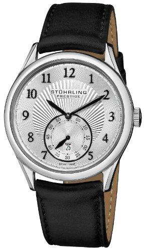 ステューリング プレステージ 腕時計 メンズ 時計 Stuhrling Prestige Men's 171B3.33152 Prestige Swiss Made Adamant Automatic Date Silver Tone Watch ステューリング プレステージ 腕時計 メンズ 時計 Stuhrling Prestige Men's 171B3.33152 Watch