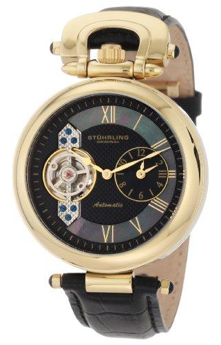 ステューリング オリジナル 腕時計 メンズ 時計 Stuhrling Original Men's 127.33351 Special Reserve Emperor Automatic Skeleton Dual Time Zone Gold Tone Watch ステューリング オリジナル 腕時計 メンズ 時計 Stuhrling Original Men's 127.33351 Watch
