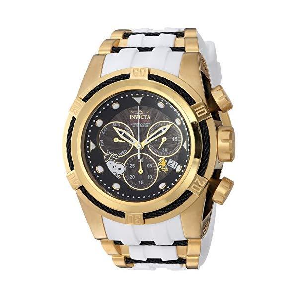 インビクタ 腕時計 INVICTA インヴィクタ 時計 スヌーピー Invicta Men's 'Character Collection' Quartz Gold-Tone and Silicone Casual Watch, Color White (Model: 25006)