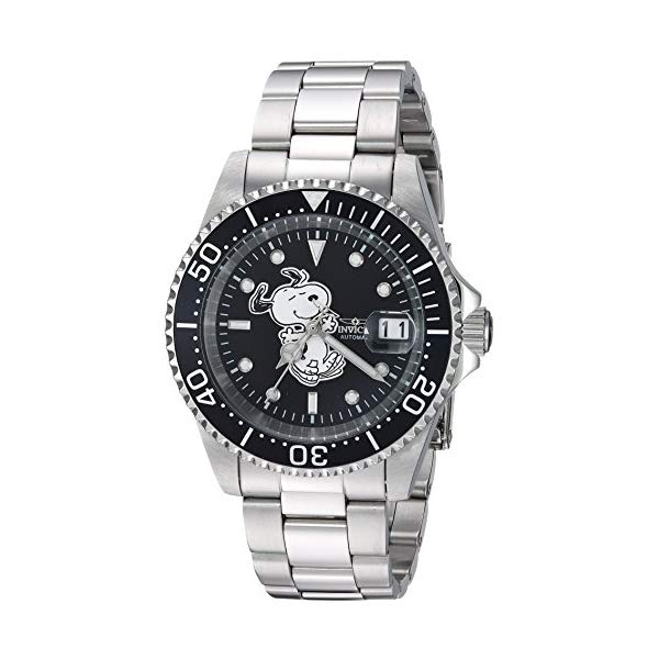 インビクタ 腕時計 INVICTA インヴィクタ 時計 スヌーピー Invicta Men's Automatic Stainless Steel Casual Watch, Color Silver-Toned (Model: 24782)
