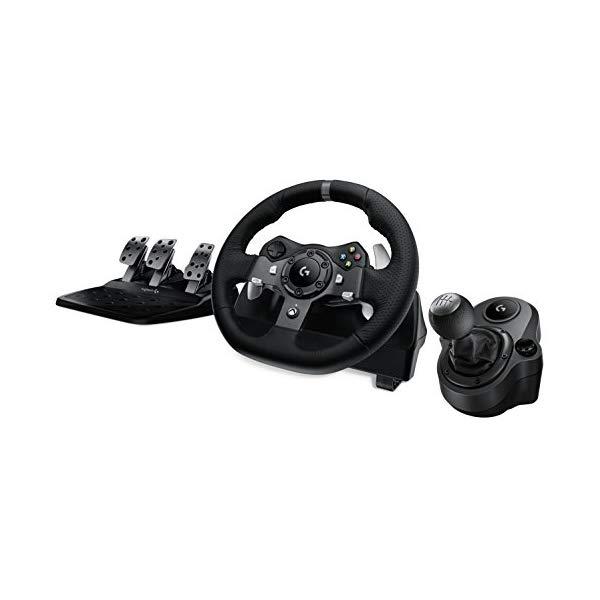 ロジテック ロジクール ドライビングフォース レーシング ホイール ハンドル ステアリング シフター シフト (ハンドル+シフト+ペダル) Logitech G920 Driving Force Racing Wheel + Logitech G Driving Force Shifter Bundle