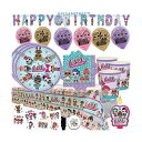 LOLサプライズ グッズ パーティーセット LOL Surprise Mega Deluxe Party Supply Pack and Decorations for 16 Guests with Plates, Cups, Napkins, Tablecover, LOL Candle, Tattoos, 6 Balloons, Birthday Banner, and EXCLUSIVE Birthday Pin by Another Dream