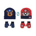 ショッピングパウパトロール パウパトロール チェイス マーシャル リバーシブル ニット帽 帽子 キットキャップ 手袋 グローブ 防寒 キッズ 子供 Nickelodeon Boys Paw Patrol Winter Hat, 2 Pair Gloves or Mittens (Toddler/Little Boys)