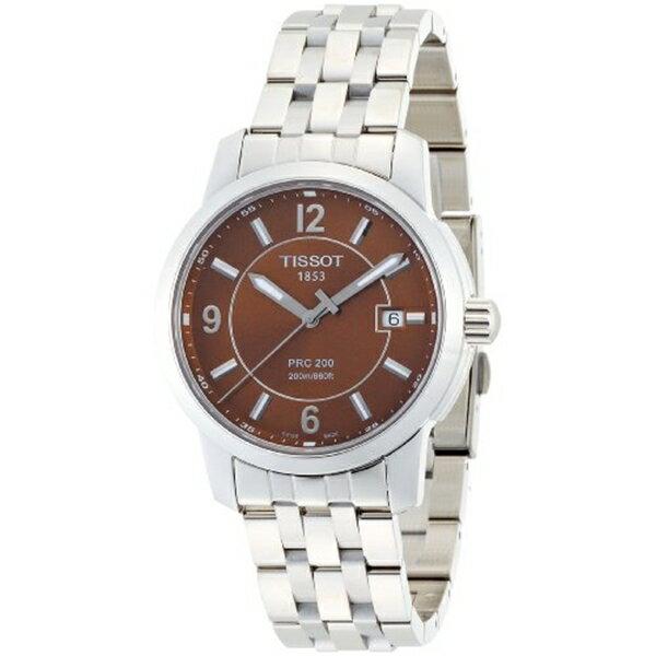 ティソ Tissot 腕時計 フリースタイル メンズ インガーソル 時計 Tissot Men's シュタイフ T0144101129700 PRC 200 Brown Dial Bracelet Watch:i-selection