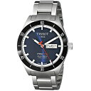 �ƥ��� Tissot �ӻ��� ��� ���� Tissot Men's T0444302104100 PRS 516 Blue Dial Stainless Steel Watch