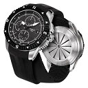 ティソ Tissot 腕時計 メンズ 時計 T-Navigator Automatic Black Dial Stainless Steel Men's Watch