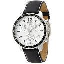 ティソ Tissot 腕時計 メンズ 時計 Tissot Men's T0954171603700 Quickster Analog Display Swiss Quartz Black Watch