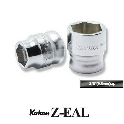 "4991644219452_Ko-ken_RS3X00MZ/12_Z-EAL_3/8""(9.5mm)差込_六角スタンダード/ディープソケット_混合レールセット_12ヶ組"