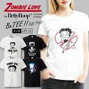 ショッピングXL ゾンビー ラブ by ベティー ブープ(TM) Tシャツ メンズ サイズ S M L LL XL 半袖 綿100% よれない 透けない 長持ち T-shirt ベティーちゃん キャラクター プリントTシャツ 人気 ハロウィン 白黒 ゆったり 5.6オンス ハイクオリティー 男性サイズ ストリート ファッション