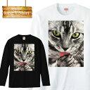 ショッピング綿 ロングスリーブ ロンT 長袖 フォト 猫 ネコ ねこ キャット ペット 動物 三毛猫 癒し 可愛い メンズ レディース 長袖 MENS S M L XL XXL T-SHIRT 大きいサイズ ビックシルエット