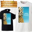 aloha hawaii ハワイアン プール パイナップル アロハ グアム パイン honolulu ホノルル 水着 休暇 バカンス 夏休み Tシャツ T-shirt ティーシャツ 半袖 大きいサイズあり big size ビックサイズ box logo
