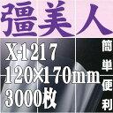 彊美人80 X-1217(3,000枚)120mm×170mm ナイロンポリ三方袋・真空・脱気・ボイル・冷凍対応【本州/四国/九州は送料無料】