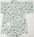 男の子甚平 100cm 110cm 120cm 薄青地にトンボ柄 生地縫製日本製 仕立上がり品