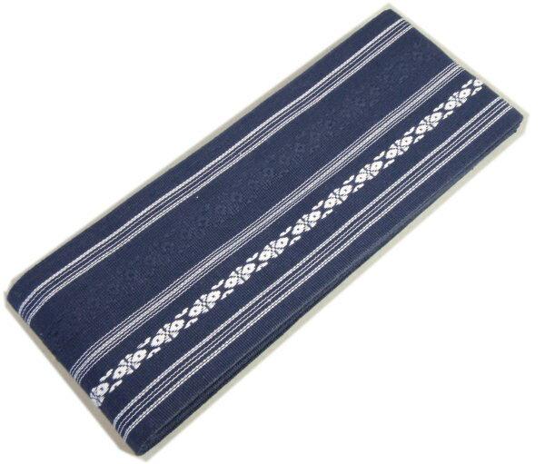 角帯 綿 濃紺 献上柄 お求めやすい価格にしました 男着物用和装小物