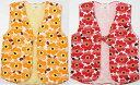 女の子袖なし袢天 ちゃんちゃんこ100cm3-4才用 綿紬 裏キルト 安心の日本製