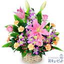 花キューピット【誕生日フラワーギフト】ya00-511254ピンクユリのアレンジメント