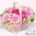 花キューピット【お見舞い】yk00-511748春のピンクバスケット【あす楽対応_北海道】【あす楽対