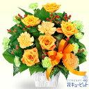 花キューピット【父の日】オレンジバラのアレンジメントmh00...