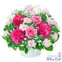 花キューピットピンクバラのアレンジメントyk00-511964 花 ギフト プレゼント