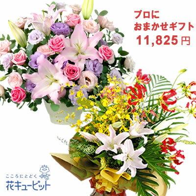 【お誕生日 おまかせ】yayr-o10999プロにおまかせフラワーギフト花キューピット