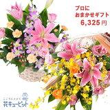 【お祝い おまかせ】ycyr-o05999プロにおまかせフラワーギフト花キューピット