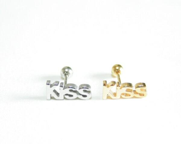 18G軟骨KISS ボディピアス 軟骨ピアス 耳ピアス 片耳ピアス