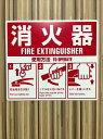 消火器 取扱い説明板 標識 (プレート 穴なし) H215mm X W250mm (表示板)