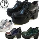 楽天靴の専門店アイビー【今なら10%OFFクーポン対象】厚底 レースアップシューズ レディースYOSUKE U.S.A ヨースケパンク ロック レースアップ 厚底 シューズ2810002 送料無料 あす楽予約は3月末頃〜の出荷です。