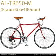 【送料無料】Alfa Romeo(アルファロメオ) Turista AL-TR650C 650*23c 軽量11.2kg シマノ21段変速 ブルホーンバーハンドル 前クイックハブ装備 02P28Sep16