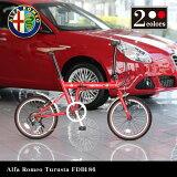 【送料無料】Alfa Romeo Turista FDB186 18インチ コンパクト折りたたみサイクル シマノ6段変速ギア搭載 13.1kg 前後泥除けフェンダー搭載 10P18Jun16 0702bonus_coupon