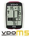 【TV-CMで使用】VDO(バーディオー) M5WL デジタルワイヤレス サイクルコンピューター 大画面表示 スピード+時間+距離+温度計+心拍数+カロリー消費+ケイデンス+バックライト機能付 ポルシェやメルセデスのスピードメーターを製造しているメーカー 02P01Oct16