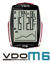【TV-CMで使用】VDO(バーディオー) M6WL デジタルワイヤレス サイクルコンピューター 大画面表示 スピード+時間+距離+温度計+高度+勾配+心拍数+カロリー消費+ケイデンス+バックライト機能付 ポルシェやメルセデスのスピードメーター製造メーカー 02P01Oct16