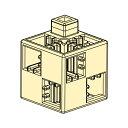 アーテック ブロック基本四角100pcsセット 薄黄