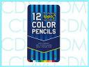 ■ippo(イッポ)【NEW】スライド缶入色鉛筆 12色 ブルーストライプ 【02P01Oct16】