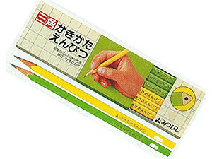 ◆ to get into the proper way! Mitsubishi pencil triangular shaft lime 2B paper box