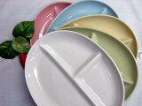 受欢迎的间隔附着盘!【!】椭圆餐具5色组套【5月的物品!】[【3月の品!】【!】【コミコミ】 楕ランチプレート5色セット]